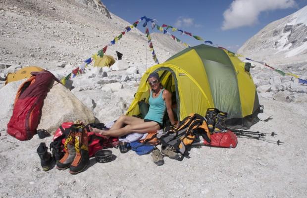 Le camp de base du Mansail à 5600 m. Plutôt confortable !