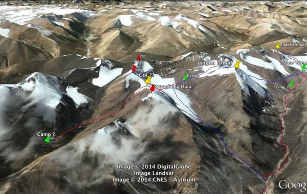 Une belle possibilité complémentaire de sortie du massif avec la possibilité d'un camp supplémentaire et quelques sommets en prime.