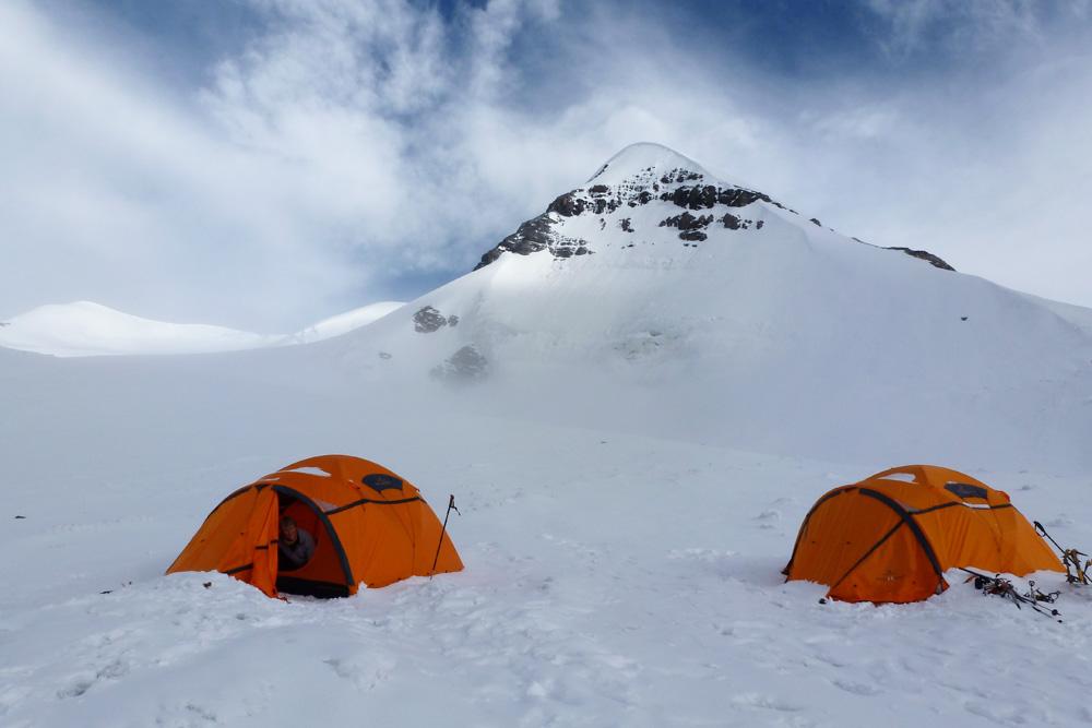 Le camp d'altitude du Futi Himal, à presque 6000 m.