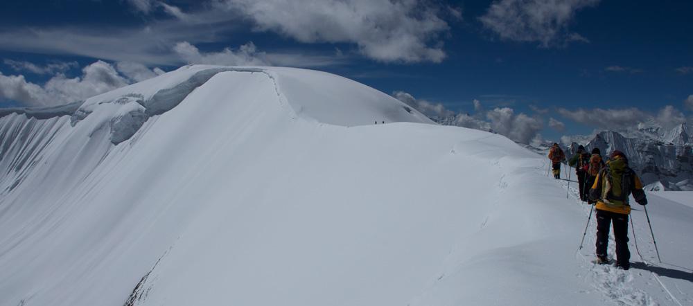 Vers le sommet du Bhrikuti Shail, souvent gravit à la place du Bhrikuti.