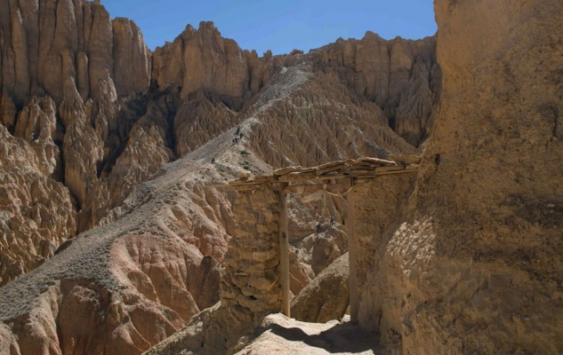 Une porte très symbolique et la plus belle randonnée du Mustang : Konchok Ling.