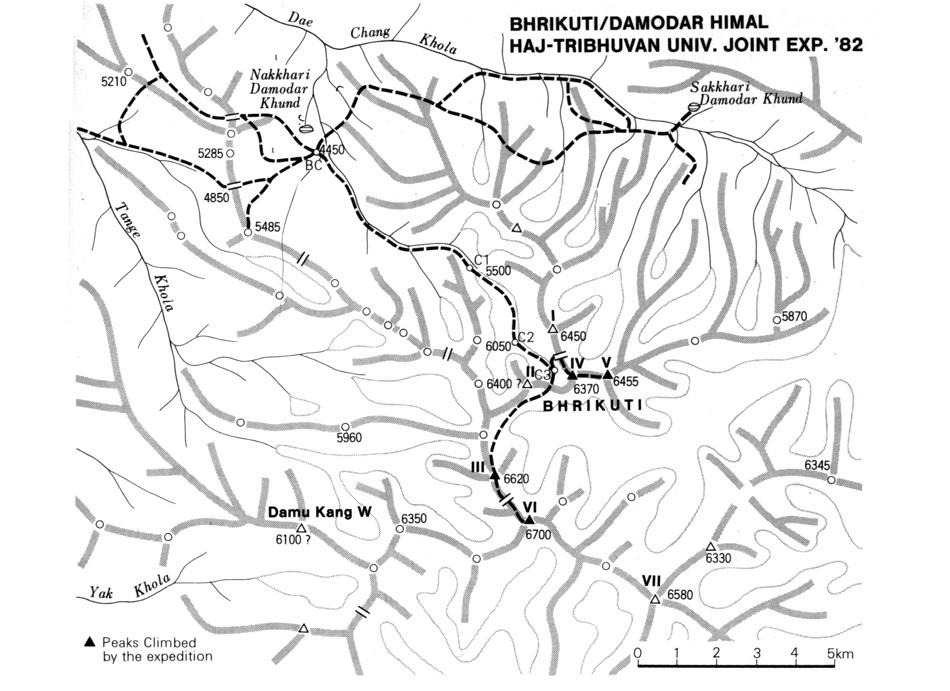 La carte de la première expédition officielle au Mustang. Notre sentier du chainon manquant à même été parcouru !
