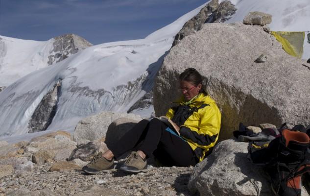 Un temps de repos très agréable à plus de 5800 m !