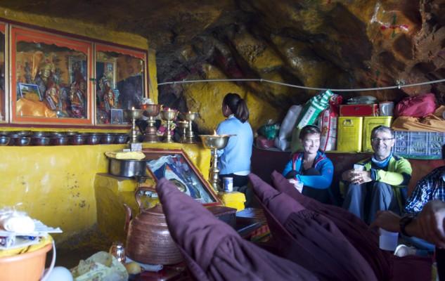 Chez les nonnes, à l'ermitage dédié à Denchok.