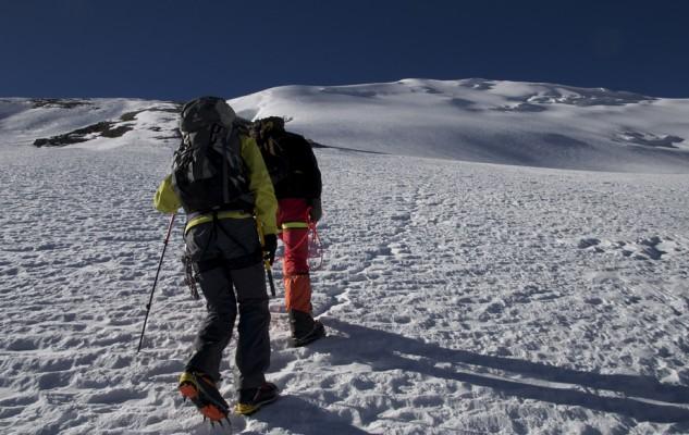 Un départ tout tranquille vers le sommet..., pas vraiment matinal !