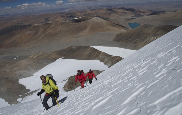 L'ambiance très particulière du plateau tibétain en arrière plan.