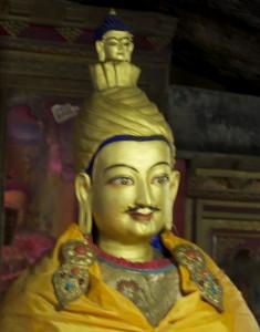 Une figure historique de Lhasa, le roi Songsten Gampo. au coeur des chroniques bouddhistes et de l'histoire. Ici à Pabonka.
