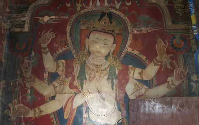 Un exemple du style très particulier des peintures de Gyantse.
