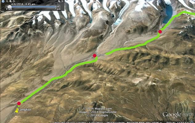 Le début de l'itinéraire, en remontant la vallée.