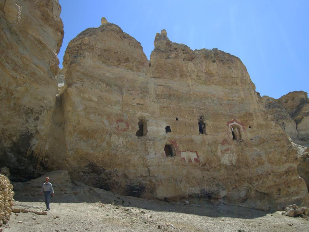 L'entrée de la grotte...