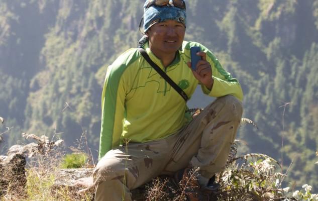 """Jangbu, pour cette occasion guide de trek. Et nous avons perdu deux """"kuiré""""."""