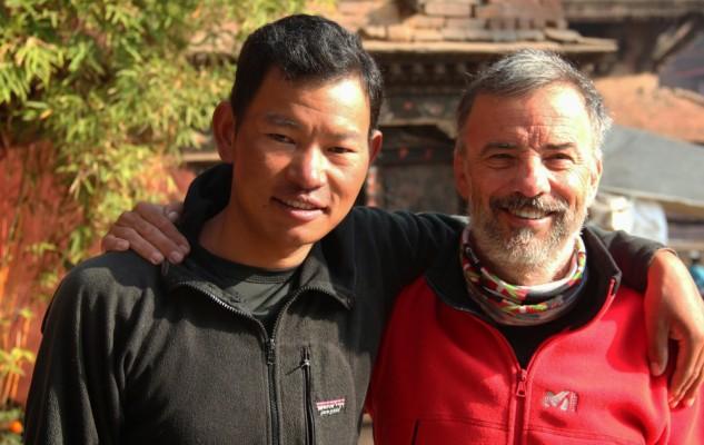 Didier et Dhan Magar. Une belle cordée.