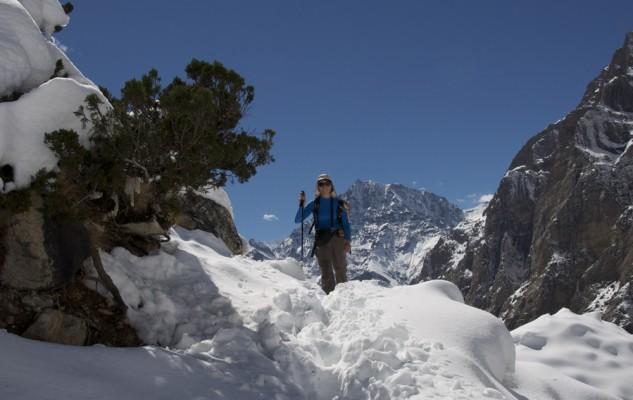 Corine..., en hiver au Népal.