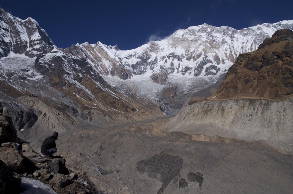 """La vue sur le glacier au départ du """"sentier"""" !"""