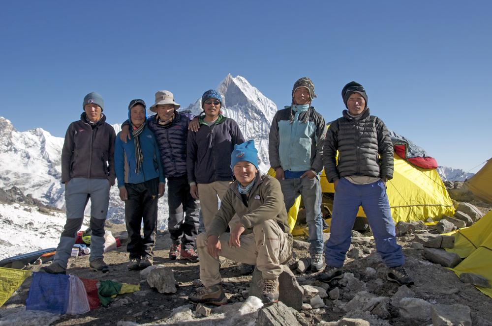 L'équipe népalaise.