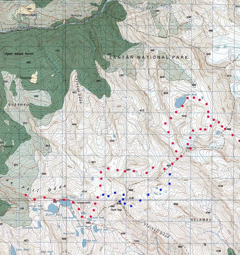 Pour rejoindre le grand sentier des lacs, plusieurs itinéraires sont possible.