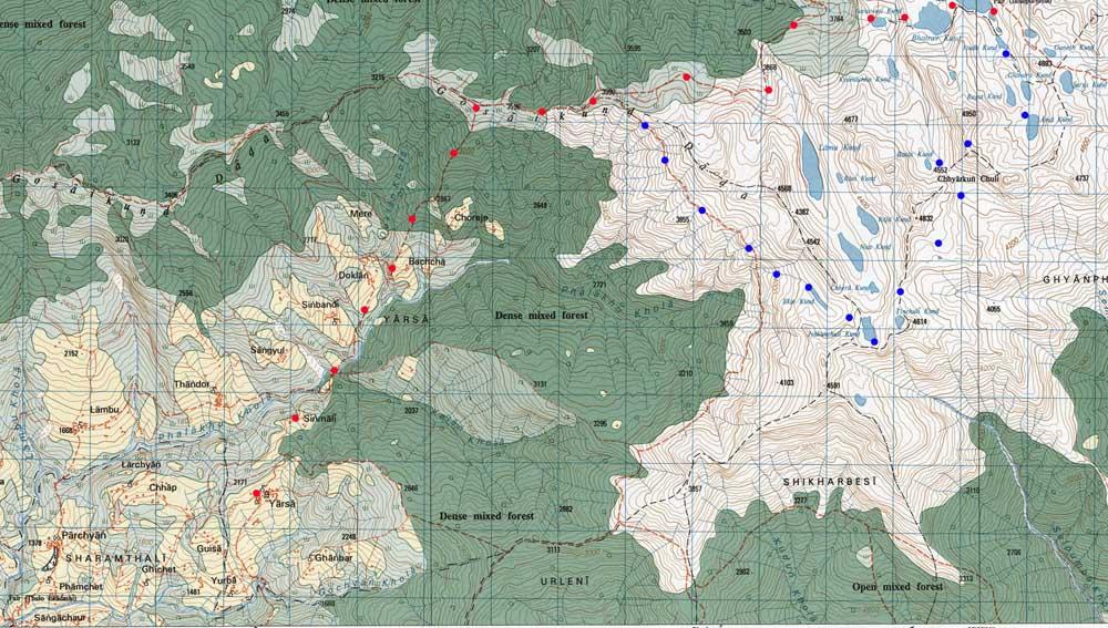 La fin du trek, beaucoup plus simple, même si l'itinéraire est très peu fréquenté.