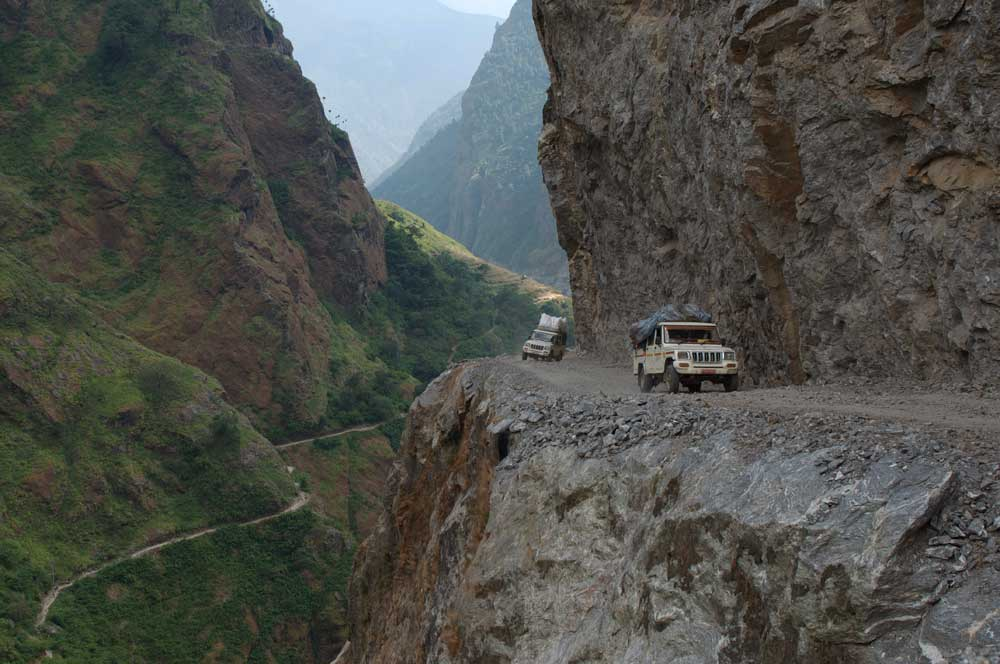 """Le """"nouveau"""" tour des Annapurna !!! By road pour rejoindre Koto..."""