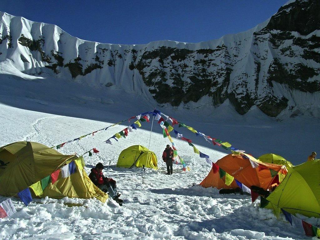 Le camp d'altitude.