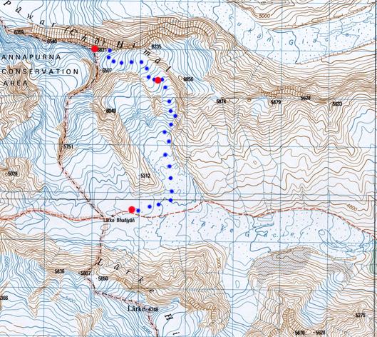 Notre itinéraire sur ce petit sommet.