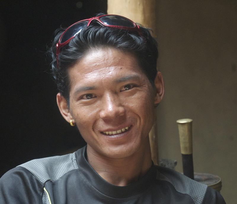 Rajan, très agréable compagnon de voyage et que nous retrouverons avec nous pour le projet de l'Himlung, cet automne 2015.