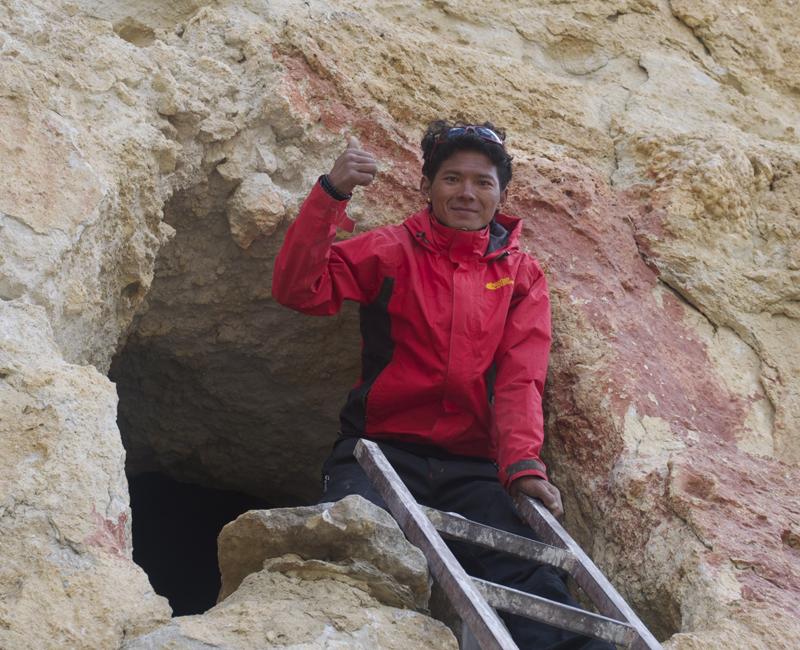 Un petit clin d'oeil à Rajan Bothe, qui visitait pour la première fois le Mustang. A Nepali tourist...