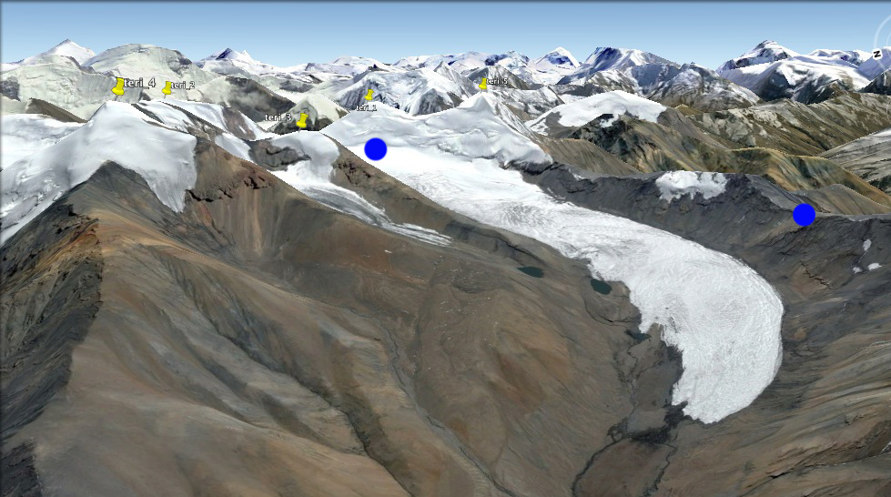 L'entrée dans la vallée glaciaire...