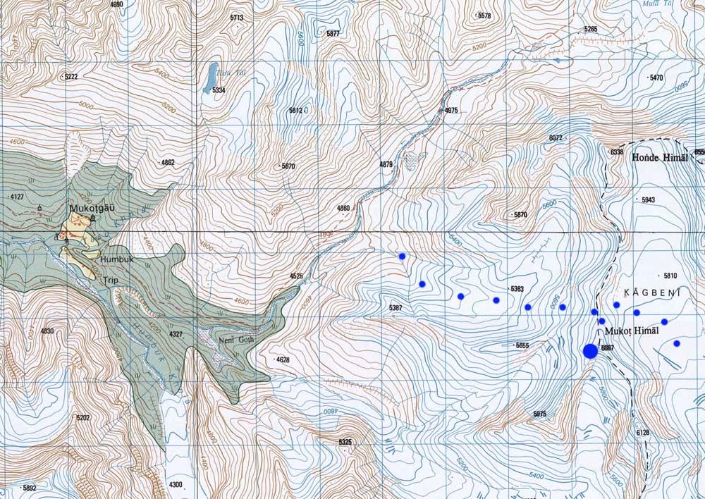 Un sommet intéressant pour découvrir l'envers du massif du Dhaulagiri et la vallée de Mu.