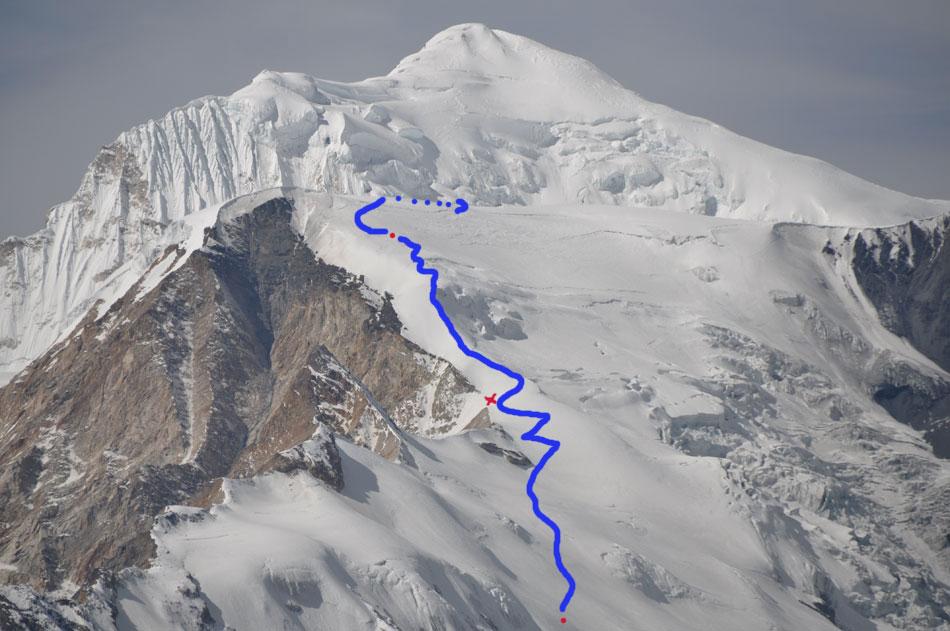 Le début de notre itinéraire sur la montagne.
