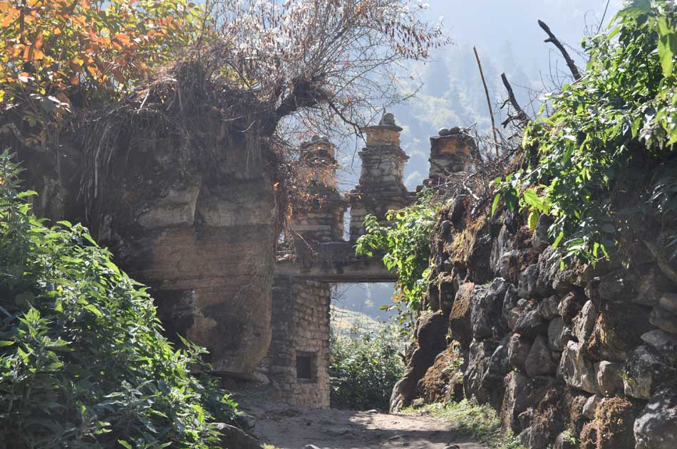 Au début du trek, sous la protection de Ridzom gonpo.
