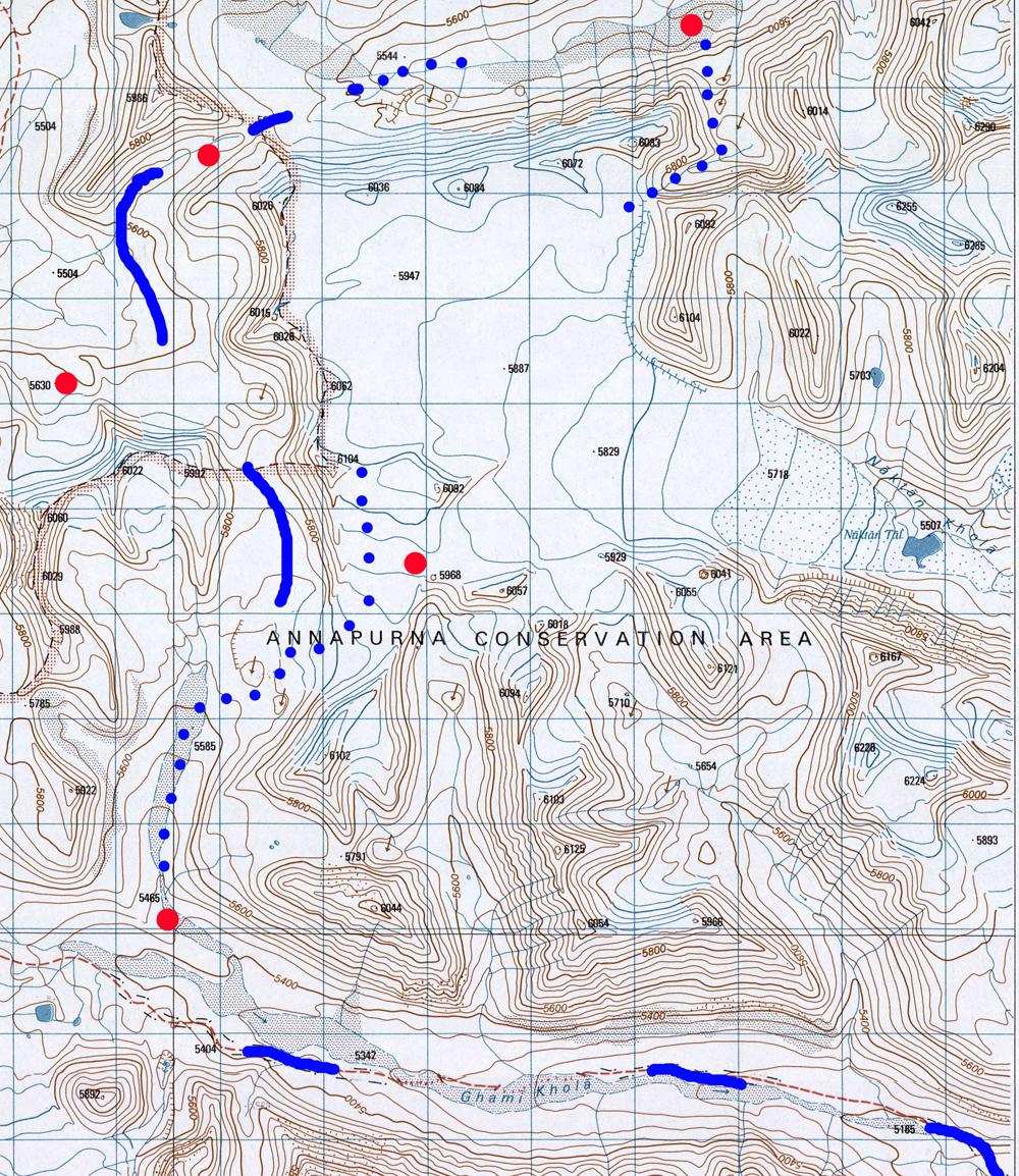 La haute vallée de Ghami et le glacier de Nakang.
