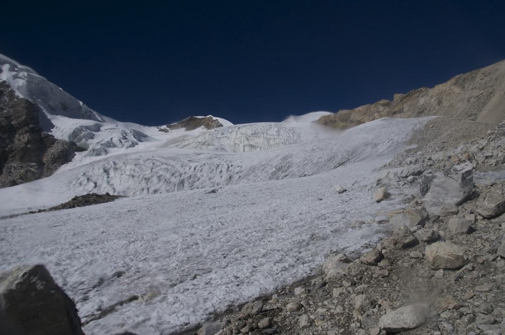Le départ sur le glacier