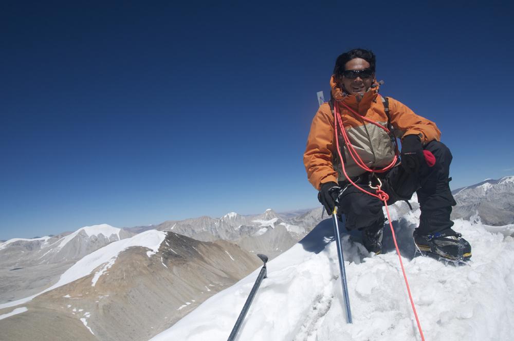 Rajan Bothe au sommet.