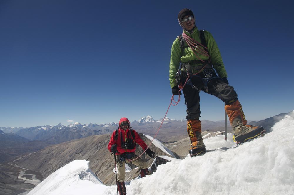Dhan & Hugues au sommet.
