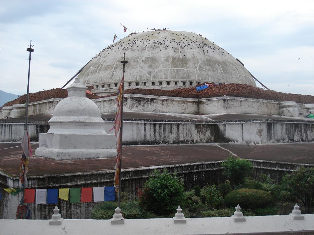 Damned... Une vision très dérangeante du dôme du Grand Stupa.