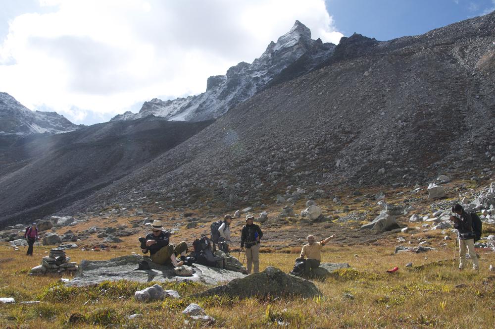Un autre camp possible, relativement en altitude, également confortable.