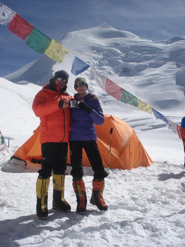 Isabelle et Manu au camp 3.