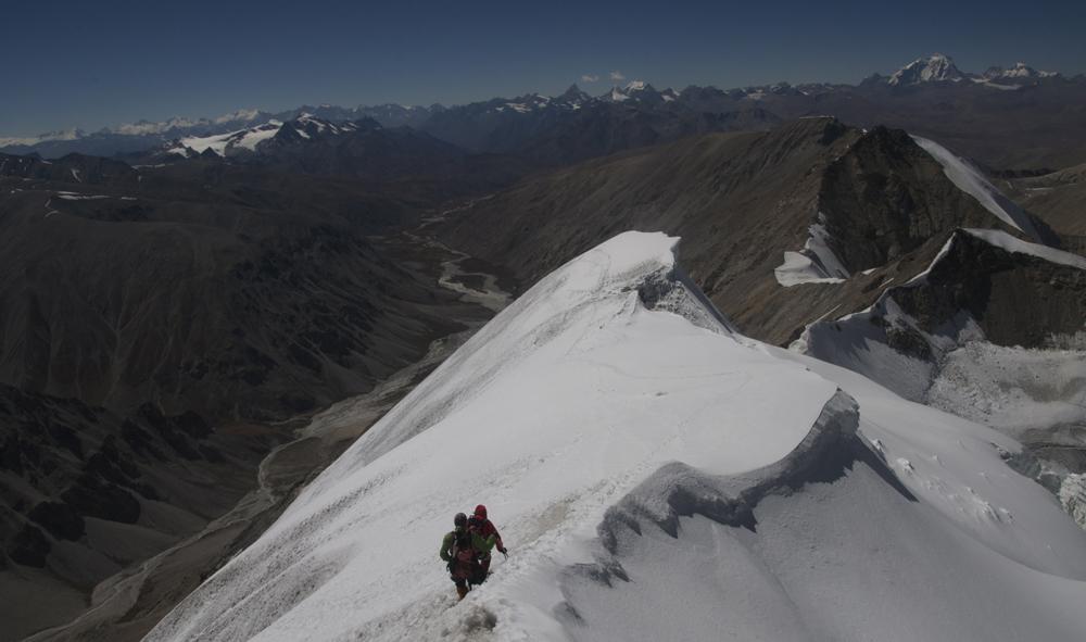Une vue du haut, lors de notre journée au sommet de l'Ashvin South.