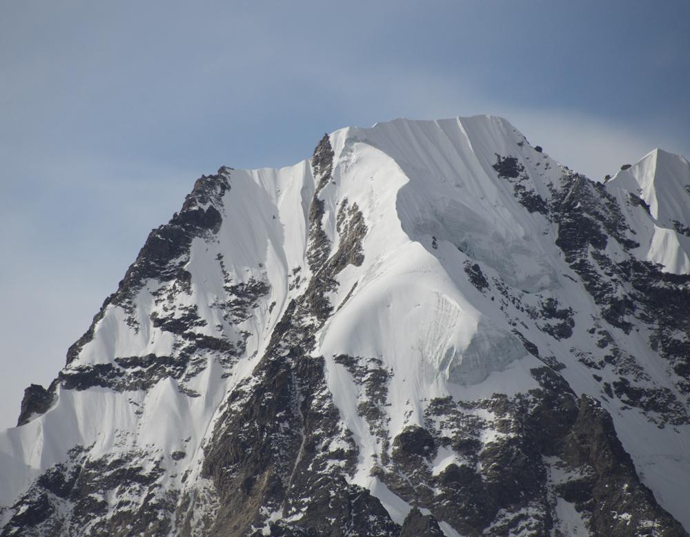 Le Naya Kanga. Il n'est pas au programme cette année car il est devenu, avec le recul des glaciers beaucoup plus technique.