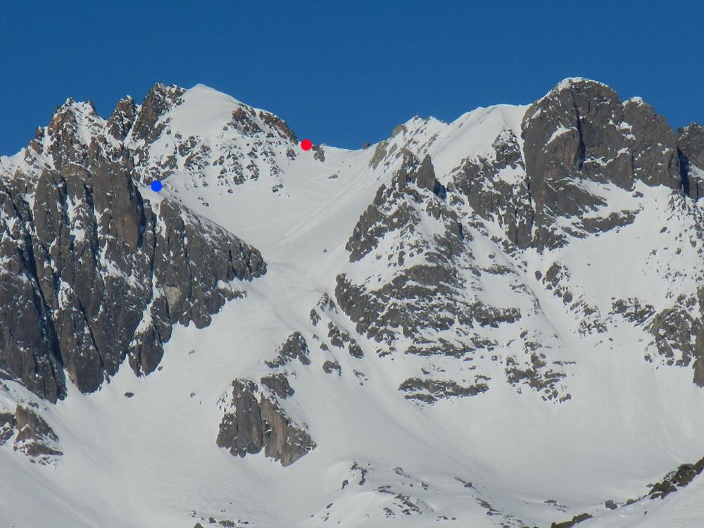 La descente classique de Casse Blanche, depuis Ricou. l'un des plus beaux itinéraires de la Clarée.