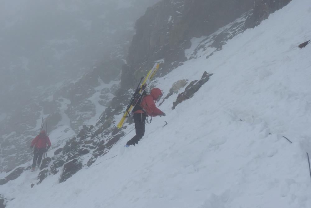Une dernière traversée en neige.