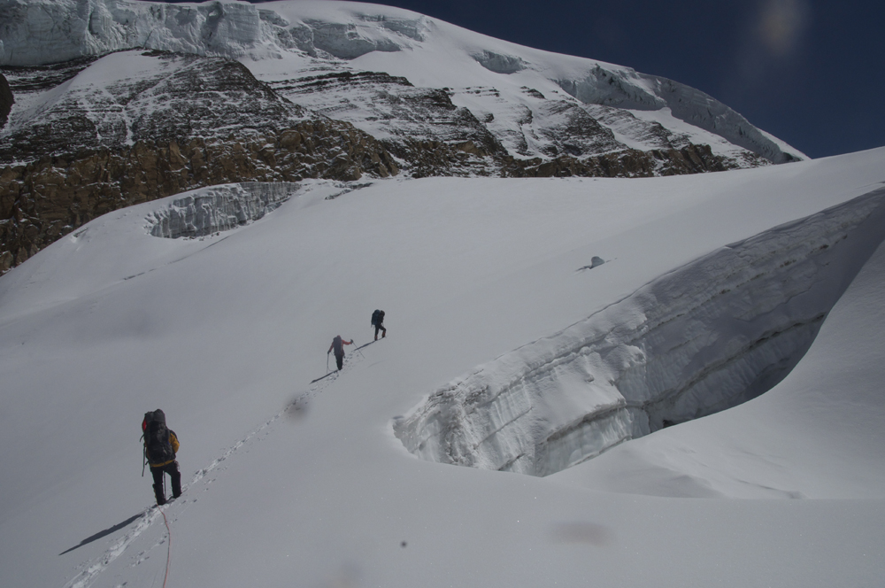 Himlung Himal, departure from Low Camp 2