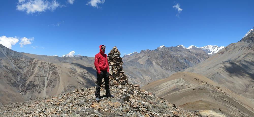 Benoît au sommet du xxx, à plus de 5000 m.