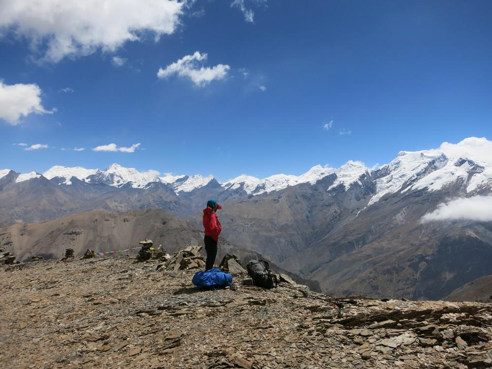 Et, dans cette immensité de sommets, l'Himlung Himal est bien visible.