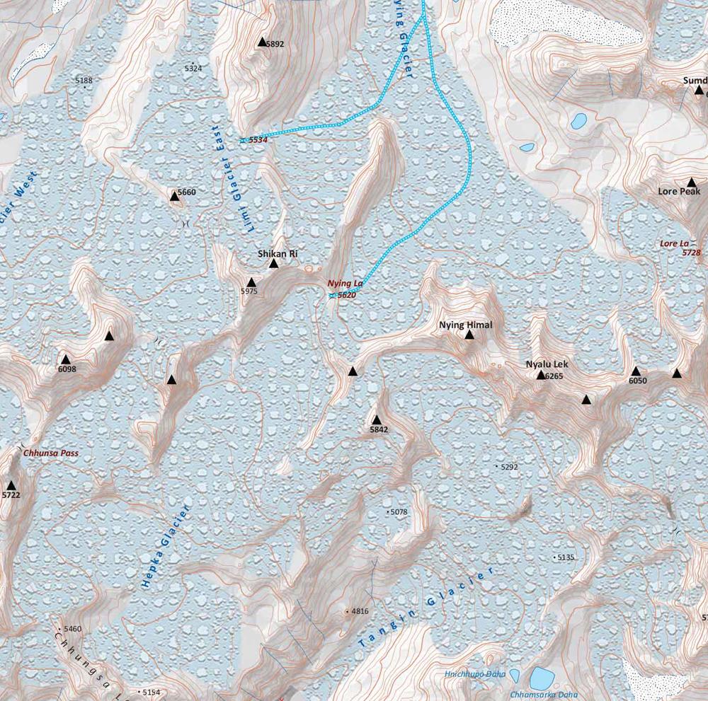 La prochaine carte au 1/50 000 qui est en cours de réalisation avec Himalayan Map House.