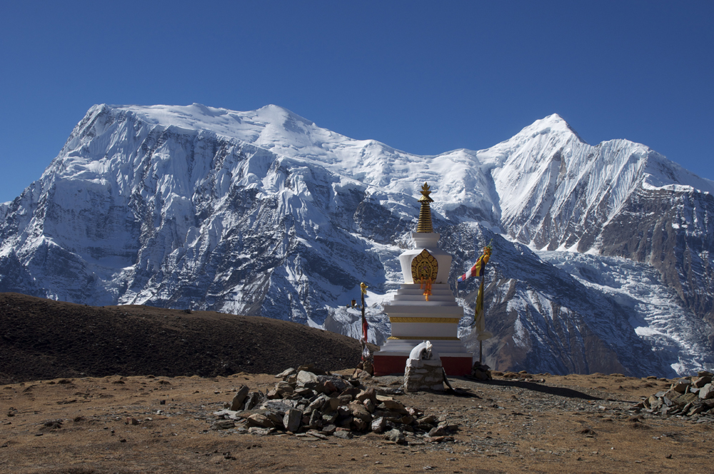 Les grands sommets du massif des Annapurna.