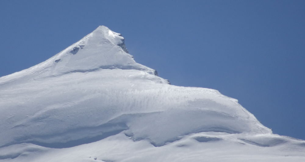 Himlung Himal from Camp 3, with our track.