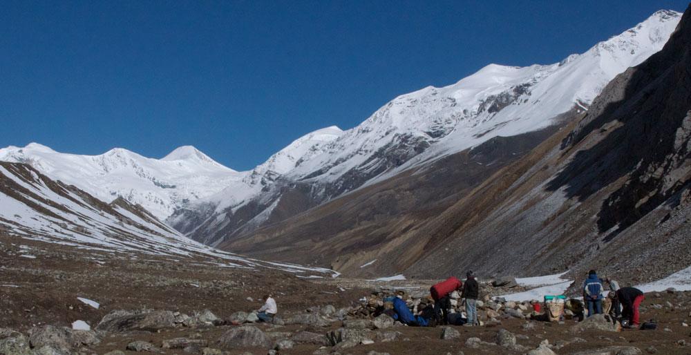 la vallée au-dessus de Samdo.