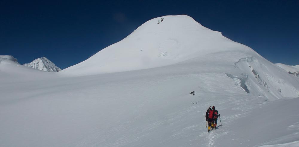 Le début du plateau, beaucoup plus simple à ski !