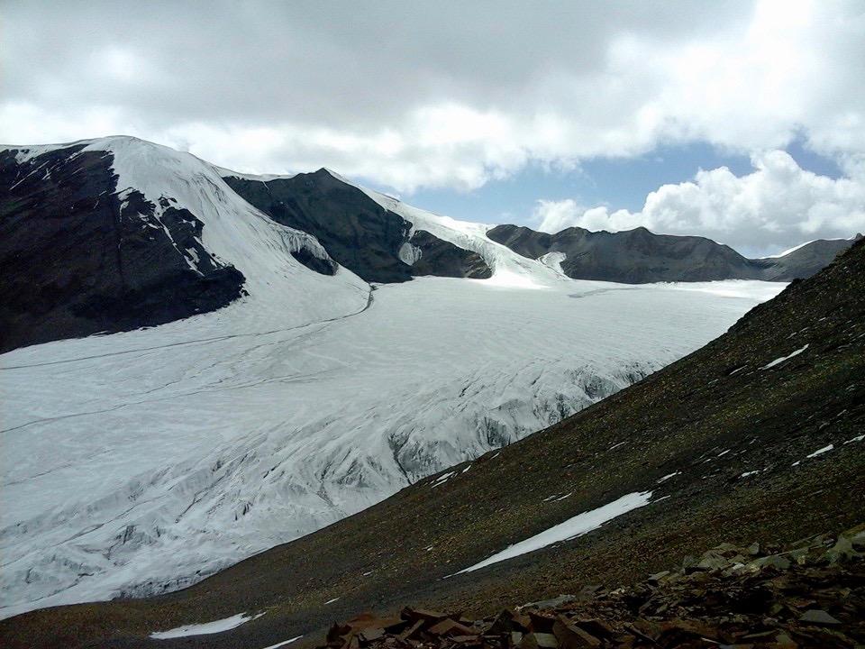 La première photo du passage du col et du glacier.